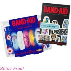 $14.00 - I don't get the whole thing with the blue and yellow sport package - I wonder if the one I got contains the sport package - BAND-AID® Brand Adhesive Bandages by Cynthia Rowley Bundle | Birchboxes | Birchbox