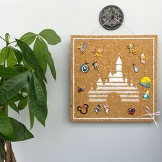 Disney Style has released the cutest DIY project to make your own Disney Pin Display Board! Disney Diy, Disney Trips, Disney College, Disney Ideas, Disney Designs, Disney Parks, Baymax, Cork Crafts, Diy And Crafts