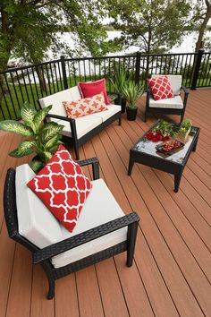 Wondering how much your dream deck could cost? You might be surprised. Check out our cost calculator today! Wondering how much your dream deck could cost? You might be surprised. Check out our cost calculator today! Backyard Decor, Decor, Deck Decorating, Patio Design, Garden Design, Porch Decorating, Outdoor Design, Outdoor Deco, Home Decor