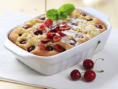 The best time to cook this delectible Cherry Dessert Casserole is when cherries are in season. Serve it up piping-hot, straight from the oven with a healthy scoop of your favorite flavor of ice cream. If you're not a fan of cherries, try substituting them with blueberries, blackberries, huckleberries or your favorite seasonal berry or fruit.