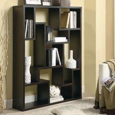 I really like asymmetrical bookcases: Asymmetrical Open Modern Wood Bookcase Coaster Home Furnishings - Amazon Smile