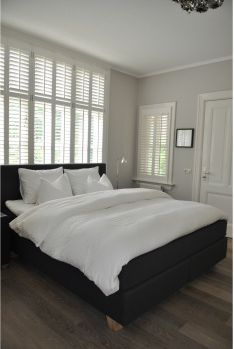 Boxspring-set Scapa Home 33, in een linnen stof Taupe.   slaapkamer ...