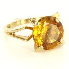 Vintage 10 Karat Yellow Gold Cocktail Ring