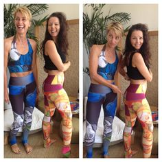 Manufactured locally, with breathable fabrics made from recycled plastic bottles, printed with unique designs by local artists - Leggings by Sabine Satie will soon to be in stock at pure love yoga!
