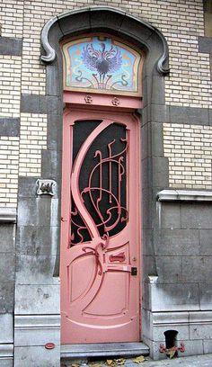 Art Nouveau Rue de Belle Vue, Brussels, Belgium