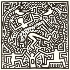 View this item and discover similar for sale at - Rare 1982 Vinyl Record Cover Art by Keith Haring. Includes a much sought-after limited edition Keith Haring illustrated lithograph picture in listing) Cover Art, Vinyl Cover, Graffiti Drawing, Graffiti Art, Pop Art, Keith Haring Art, Marquesan Tattoos, Record Art, Grey Tattoo
