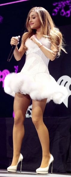 Ariana Grande is every inch the snowflake princess at KISS FM event