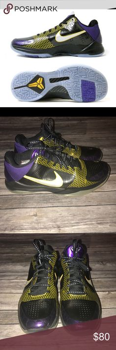 Nike Zoom kobe V (5) playoff pack Excellent used condition have been in storage and not worn in a couple of years. Nike Shoes Sneakers