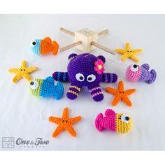 Sea Friends Mobile Crochet Pattern