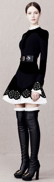 Love this dress!  Alexander McQueen Pre-Fall 2013