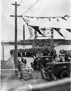Opening of bridge over Cooks River 17 December 1927 First Fleet, Botany Bay, Historic Architecture, Memorial Museum, Laundry Hacks, Historical Pictures, Sydney Australia, Sands, Back In The Day