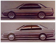 "Alfa Romeo 164 Sketches ""Enrico Fumia"""