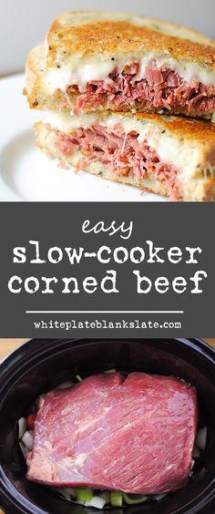 Easy slow cooker corned beef
