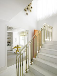25 Best Interior Design Projects by Greg Natale Railing Design, Staircase Design, Stair Railing, Balustrade Design, Marble Staircase, Metal Railings, Stair Steps, Best Interior Design, Interior Design Inspiration