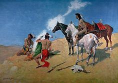 Indians Painting - Smoke Signals by Frederic Remington
