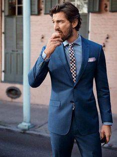 Peaked Lapel Custume Made Tuxedos Wedding Men Suits Bespoke Terno Masculino Slim Fit Sharp Dressed Man, Well Dressed, Gentleman Mode, Gentleman Style, Best Blue Suits, Blue Suit Men, Costumes Bleus, Suit Fashion, Mens Fashion