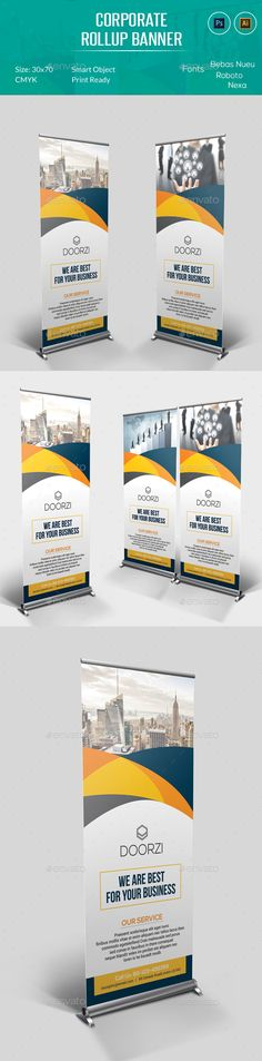 Corporate Rollup Banner Template PSD, AI #design Download: http://graphicriver.net/item/corporate-rollup-banner/13383732?ref=ksioks