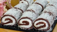 """The finest dessert without baking! You can also try this Turkish cake """"Sultan Lokumu""""! Serbian Recipes, Hungarian Recipes, Turkish Recipes, Ethnic Recipes, No Cook Desserts, Arabic Food, Diy Food, Good Food, Food And Drink"""