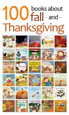 Great list of fall and Thanksgiving books for kids...