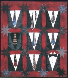 Mikes Ties & Mr. Cool Gather up those fun ties that were a fun gift but no one will ever wear and use them to create a quilt for your