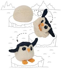 Create the coolest of all reversible knitting toys, the Egg to Penguin, while learning a few sewing techniques including how to whipstitch.
