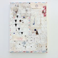 Janna Werner mail art mixed media canvas... Noice Noice Noice!!!! Layout nat!! Yes yes yes !