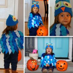 Mama's Organized Chaos: No Sew Halloween Costume- O the Owl (from Daniel Tiger)