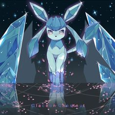 Glaceon from Pokémon.