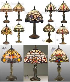 Details about tiffany table lamp light amber shade lampshade glass details about range of small size tiffany style handcrafted table lamps aloadofball Choice Image