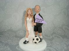 Check out our soccer selection for the very best in unique or custom, handmade pieces from our shops. Wedding List, Wedding Engagement, Wedding Day, Themed Wedding Cakes, Wedding Cake Toppers, Football Wedding, Soccer Theme, Fall Wedding Centerpieces, Dessert Ideas