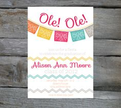 Fiesta! This is a really cute invitation if you're having a themed party.