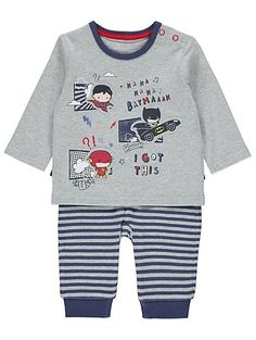This superhero set is sure to help your little one join the likes of Batman and Superman in all their adventures. It's built in cape and cotton rich trouser ...