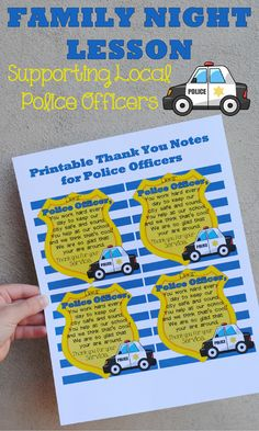 Respecting Police Officers may be of more importance now that ever before. This Family Night lesson aims to teach our children the importance of gratitude.