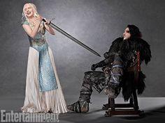 Game of ThronesTV 2013: 29 EW Portraits - Emilia Clarke and Kit Harrington, Game of Thrones