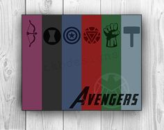 This was fun to make! I love the Avengers so I wanted to make a cool minimalist print that I can put in my man cave. The Avengers Poster Print by tkbdesigns on Etsy, $19.00
