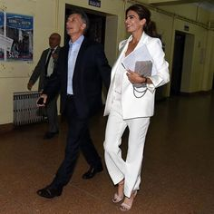 As chic, modern-day First Ladies like our own Michelle Obama have proven, the impression Awada will make on her country promises to go beyond the sartorial. Michelle Obama, Professional Image, Vogue, White Suits, Royal Fashion, Classy Outfits, Fashion Pictures, Fashion Addict, Work Wear