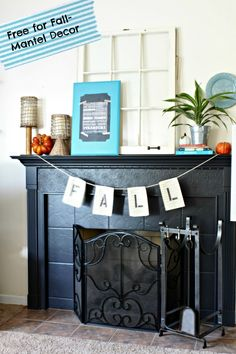 Use What You Have Fall Mantel