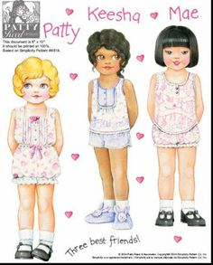 Amy,Kayla,Keesha,Kendra,Mae,Nan,Patty,Samantha Paper Dolls.This From Pitaove2 - Yakira Chandrani - Picasa Web Albums Based on Simplicity Patterns
