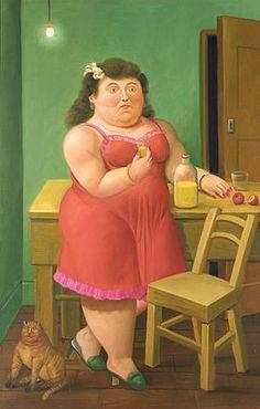 Botero peintre -