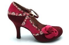 Ruby Shoo Sophie Womens Flower Mid High Heel Courts Shoes