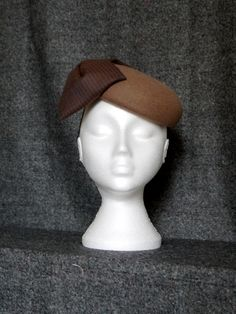 Tweed Bow Button by MARY TURNER #millinery #hats #HatAcademy