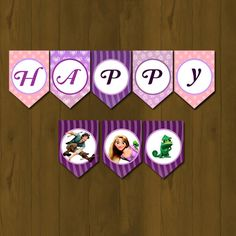 Tangled Rapunzel Banner - Rapunzel Tangled Printable Birthday Banner (Disney Tangled). $10.00, via Etsy.