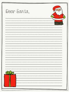 FREEBIE from What Happens in First Grade - Santa Letter template and ideas Santa Letter Template, Letter Writing Template, Christmas Writing, 1st Christmas, Christmas Ideas, Christmas Art Projects, Happy December, First Grade, Grade 3