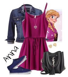 """Anna"" by violetvd ❤ liked on Polyvore featuring Disney, maurices, Vans, Yves Saint Laurent, Accessorize and Kate Spade"
