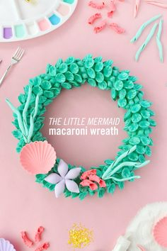 Macaroni Crafts Never Looked So Good Thanks to This 'Little Mermaid' Wreath