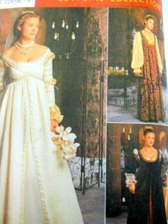 Simplicity-Sewing-Pattern-8735-Renaissance-Dress-Costume-Size-16-20-Party