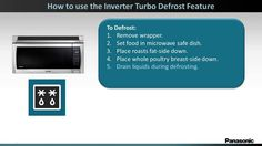 Panasonic Microwave Oven NNSE284 - How to Use Turbo Defrost