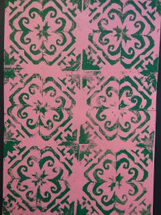The Calvert Canvas: Adventures in Middle School Art!: Islamic Tile Design Printmaking