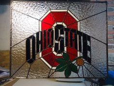 Hey, I found this really awesome Etsy listing at https://www.etsy.com/listing/220140079/ohio-state-buckeyes-stained-glass-panel
