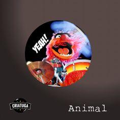 MUPPETS ANIMAL DRUMMER      badge / pinback button